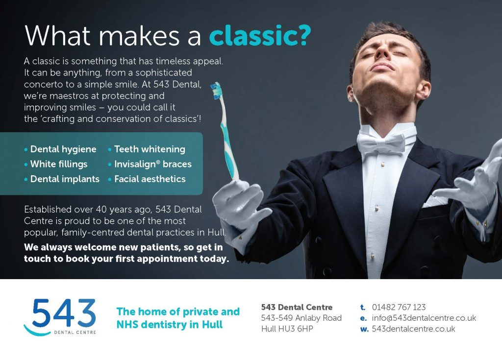 543D15399 543 Dental Classics in the Park 2018 Programme Advert v2